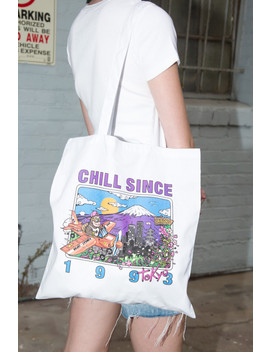 Chill Since 1993 Tokyo Tote Bag by Brandy Melville