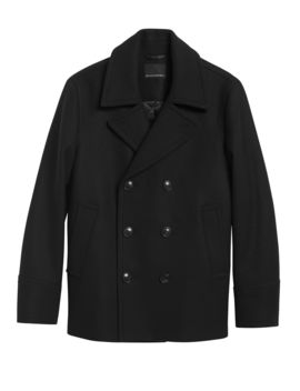 Italian Melton Peacoat by Banana Republic