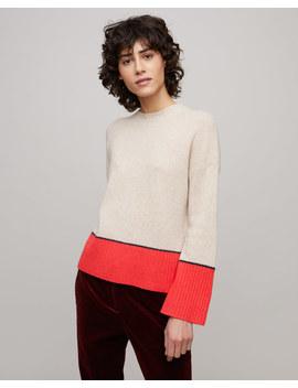 Cashmere Colour Block Jumper by Jigsaw