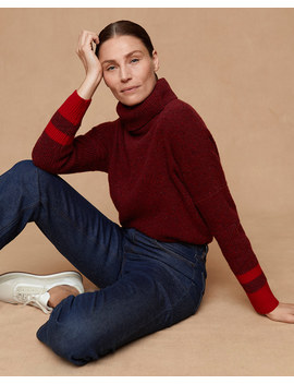 Donegal Slouchy Polo Jumper by Jigsaw