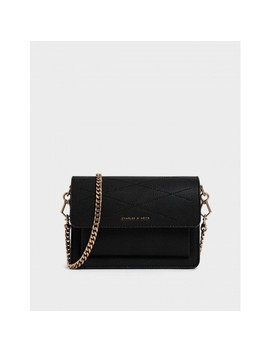 Top Stitch Detail Crossbody Bag by Charles & Keith