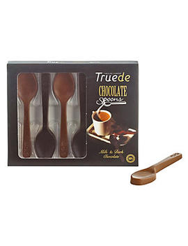 6 Solid Milk & Dark Chocolate Stirring Spoons 54g by Lakeland