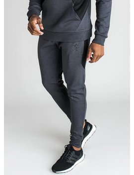 Gk Adkins Tracksuit Bottoms   Charcoal Marl by The Gym King