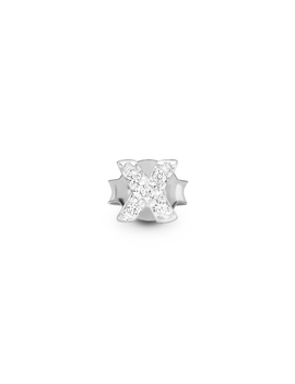 Silver Pave Single X Stud by Missoma