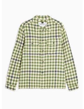 Sage And Ecru Gingham Check Overshirt by Topman