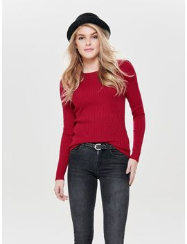 Longsleeved Rib Trui by Only