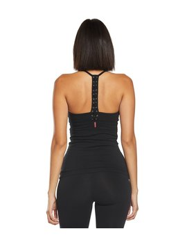 Back Laced Halter Support Tank Top by Yoga Outlet
