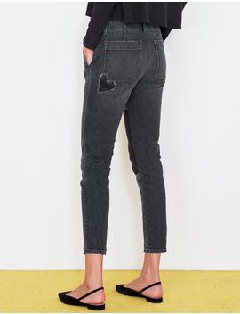 Heart Patch Workwear Trouser Jean by Sundry Clothing