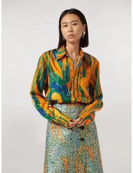 Shirt In Silk Twill Psychotropic Print by Marni