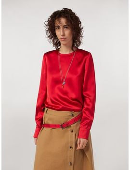 Viscose Satin Crew Neck Shirt by Marni