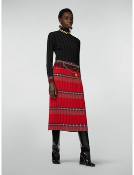 Flat Ribbed Skirt In Twisted Wool by Marni