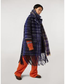 Macro Plaid Wool Tweed Coat by Marni