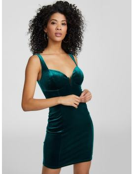 Blakely Corset Velvet Dress by G By Guess