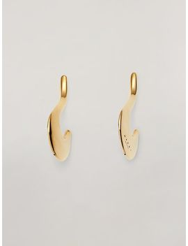 Blow Up Earrings In Metal With Hook Shaped Pendant by Marni