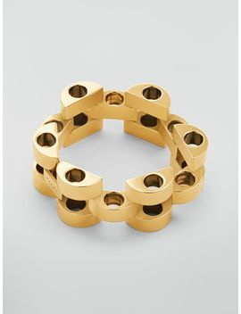 Mesh Bracelet In Gold Tone Metal by Marni