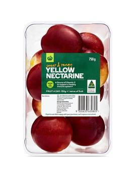 Nectarine Yellow Flesh 750g by Woolworths