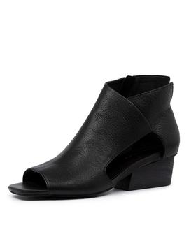 Tolra Dj Black Black Heel Leather by Django & Juliette