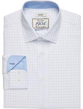 1905 Collection Slim Fit Spread Collar Diamond Dot Print Dress Shirt  by Jos. A. Bank