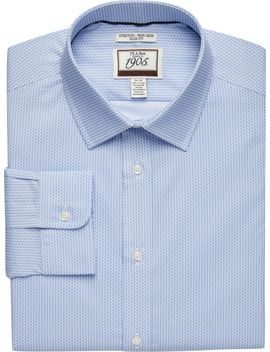 1905 Collection Slim Fit Spread Collar Square Pattern Dress Shirt  by Jos. A. Bank