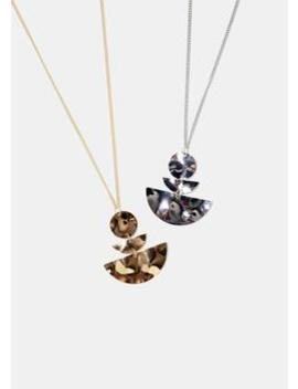 Warped Metal Pendant Necklace by Miss A