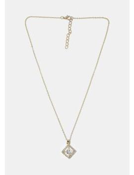 Square Gem Pendant Necklace by Miss A