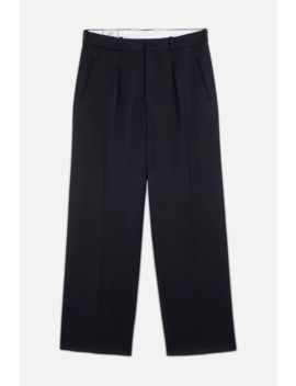 Wide Fit Pleated Trousers by Ami Paris