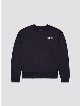 Small Logo Crewneck Sweatshirt by Alpha Industries