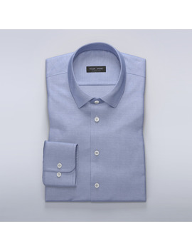 Teaching Mens Fashion Tmf Blue Dress Shirt In French Oxford by Tailor Store