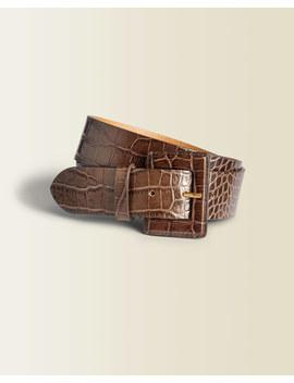 Jill Croc Leather Waist Belt by Jigsaw