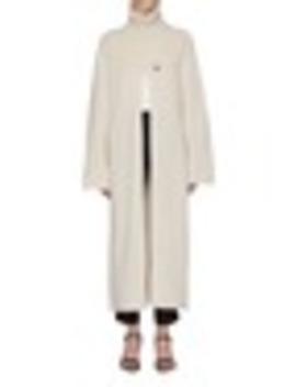 'vivien' Pintuck Split Oversized Wool Turtleneck Dress by Joseph