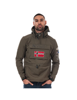 Mens Terreaux Half Zip Softshell Jacket by Geographical Norway