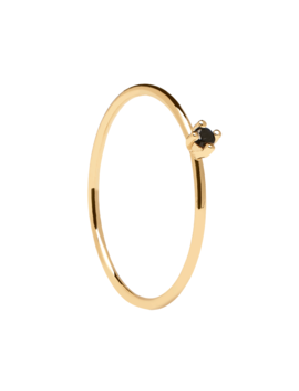 Black Solitary Gold Ring by P D Paola
