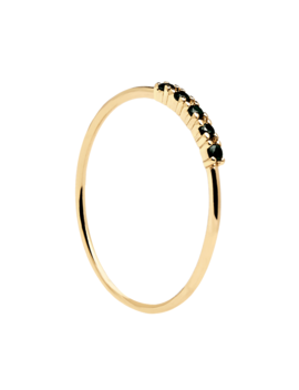 Black Misty Gold Ring by P D Paola