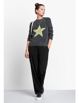 Melange Star Jumper by Hush
