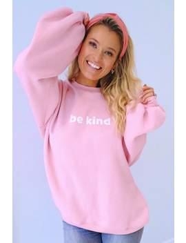 Meggan Grubb Pink 'be Kind' Slogan Sweatshirt by In The Style