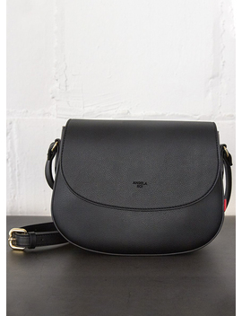 Angela Roi Florence Saddle Crossbody Signet Black by Angela Roi