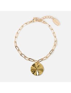 Molten Coin & Chain Bracelet by Orelia