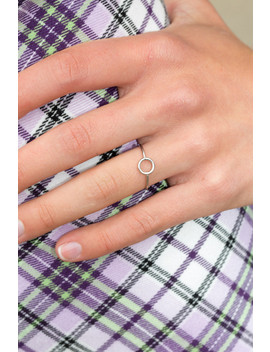 Silver Circle Ring by Brandy Melville