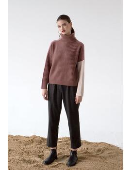 Averie Cashmere Blend Sweater   Blush by Petite Studio