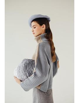 Averie Cashmere Blend Sweater   Sky by Petite Studio