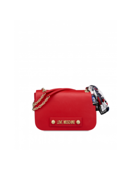 Shoulder Bag With Logo And Foulard by Moschino
