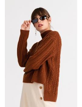 Aubrey Cashmere Blend Sweater   Burnt Orange by Petite Studio