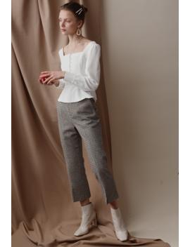 Bennet Wool Plaid Pants by Petite Studio