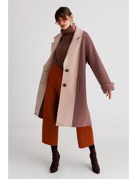 Heidi Wool Coat   Orange & Rose by Petite Studio