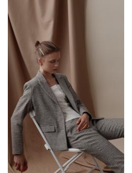 Bennet Wool Plaid Jacket by Petite Studio