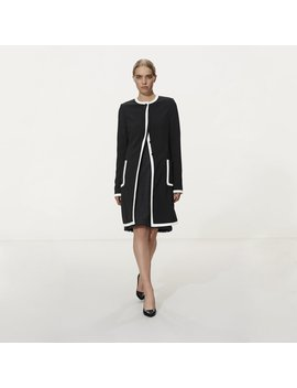 Karl Lagerfeld Paris Tipped Longline Jacket Karl Lagerfeld Paris Tipped Longline Jacket by Long Tall Sally