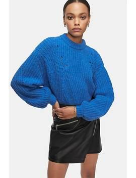Jolie Sweater   Cerulean Blue by Anine Bing