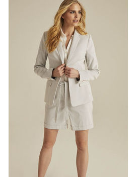 Cotton Rich Ticking Stripe Suit Jacket by Long Tall Sally