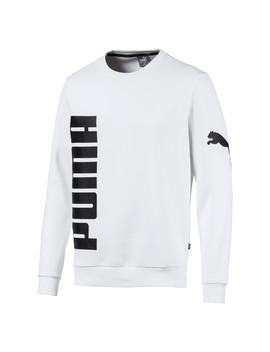 Big Logo Fleece Graphic Long Sleeve Crew Men's Sweater by Puma