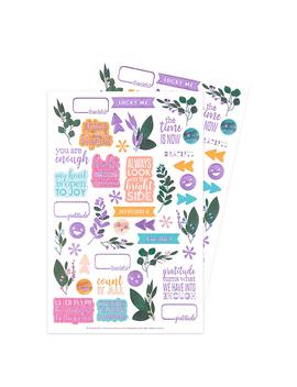 Gratitude Decorative Sticker 2 Pack Edition 2viewed by Erin Condren